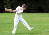 Kearan TongueGibbs aged 11 poses as he plays cricket on July 22 2011 in Redditch England Kieran is a young cricketing prodigy who is amazing his...