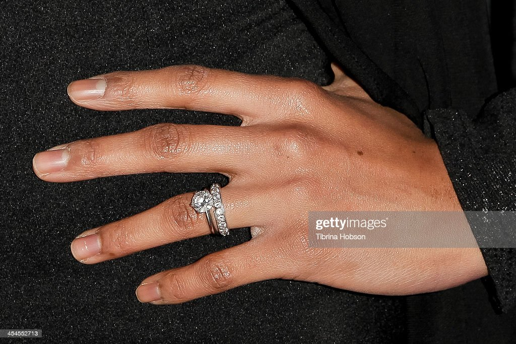 Kearran Giovanni (ring detail) attends the CNN 's 'A New Way of Life Reentry Project' 15th annual fundraising gala at Omni Los Angeles Hotel on December 8, 2013 in Los Angeles, California.