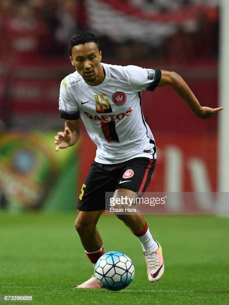 Kearyn Baccus of Western Sydney in action during the AFC Champions League Group F match between Urawa Red Diamonds and Western Sydney at Saitama...