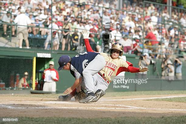 Keaton Allen of Warner Robins Georgia slides home during the Little league World Series United States Championship Game against the Southwest team at...
