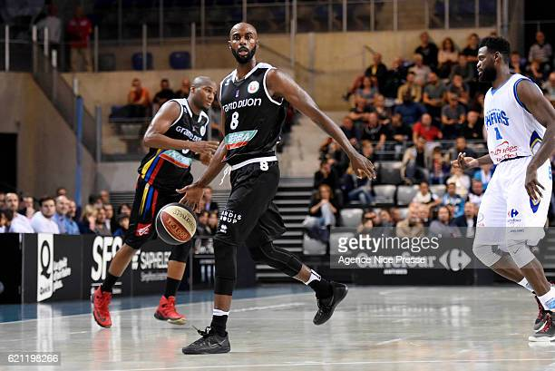 Keaton Grant of Dijon during the Pro A match between Antibes sharks and JDA Dijon on November 4 2016 in Antibes France