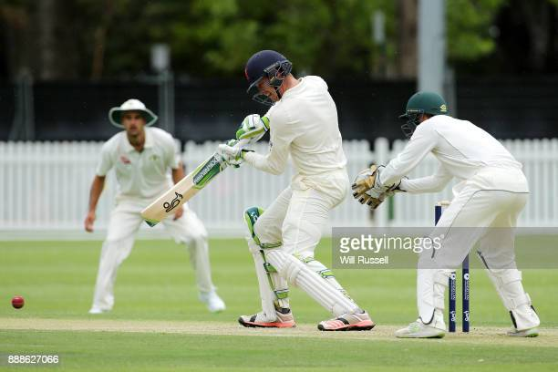 Keaton Jennings bats during the Two Day tour match between the Cricket Australia CA XI and England at Richardson Park on December 9 2017 in Perth...