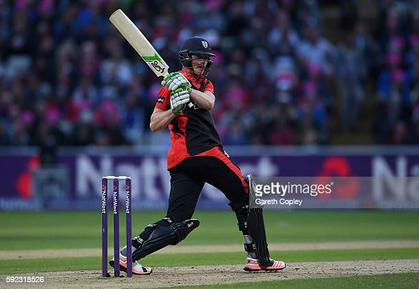 Keaton Jennings of Durham bats during the NatWest t20 Blast Final between Northamptonshire and Durham at Edgbaston on August 20 2016 in Birmingham...