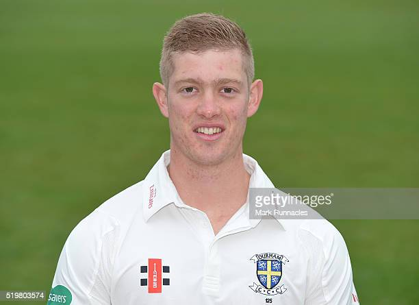 Keaton Jennings of Durham poses for a photograph during the Durham County Cricket Club photocall at the Riverside on April 8 2016 in ChesterLeStreet...