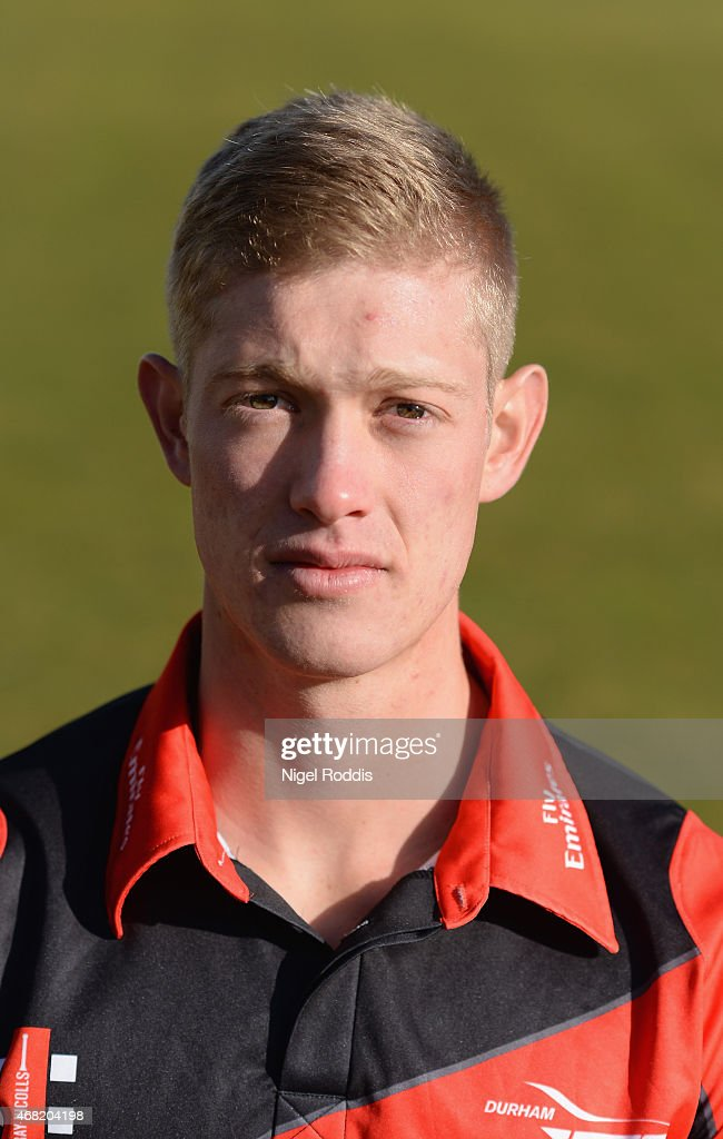 Keaton Jennings of Durham poses for a portrait during the Durham CCC Photocall at The Riverside on March 31 2015 in ChesterleStreet England