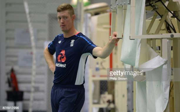Keaton Jennings of England looks on during a training session before the 4th Investec Test match between England and South Africa at Old Trafford...