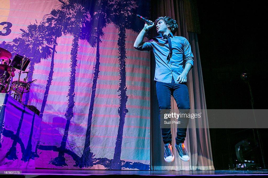 Keaton Stromberg of Emblem3 performs live at Key Arena on November 12, 2013 in Seattle, Washington.