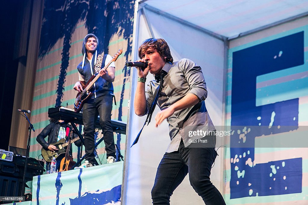 Keaton Stromberg of Emblem3 performs live at Key Arena on November 12, 2013 in Seattle, Washington.