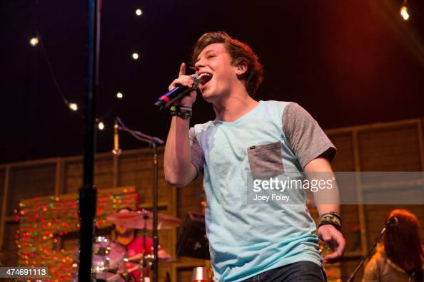 Keaton Stromberg of Emblem3 performs live onstage at Bankers Life Fieldhouse on February 15 2014 in Indianapolis Indiana