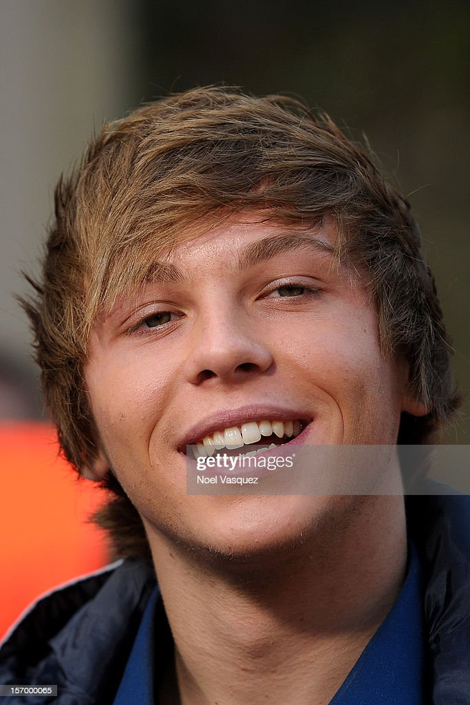Keaton Stromberg of Emblem3 visits 'Extra' at The Grove on November 26, 2012 in Los Angeles, California.