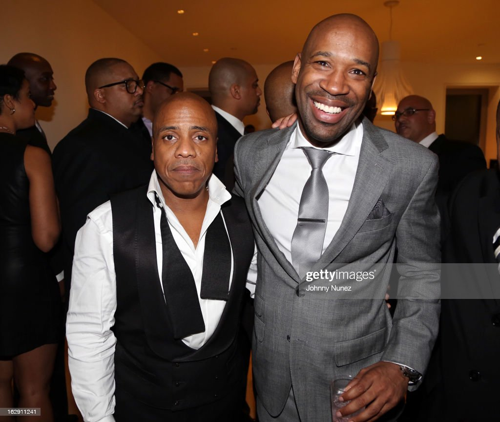 Kedar Massenburg and J. Alexander Martin celebrate Kedar Massenburg's 50th birthday at Water Fall Mansion on February 28, 2013 in New York City.