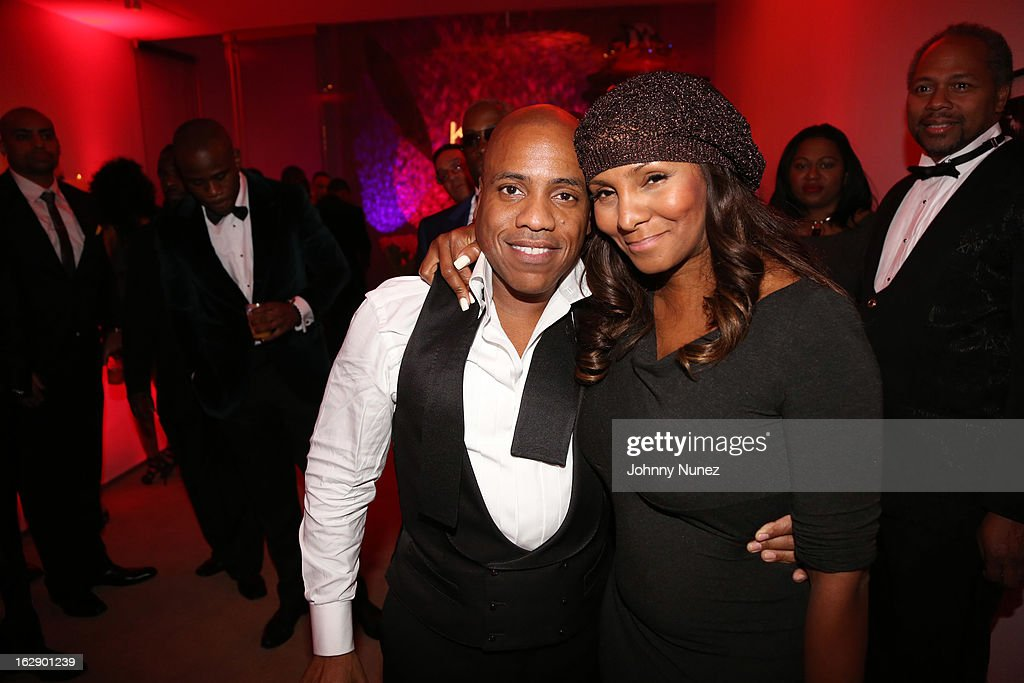 Kedar Massenburg and Marvet Britto celebrate Kedar Massenburg's 50th birthday at Water Fall Mansion on February 28, 2013 in New York City.