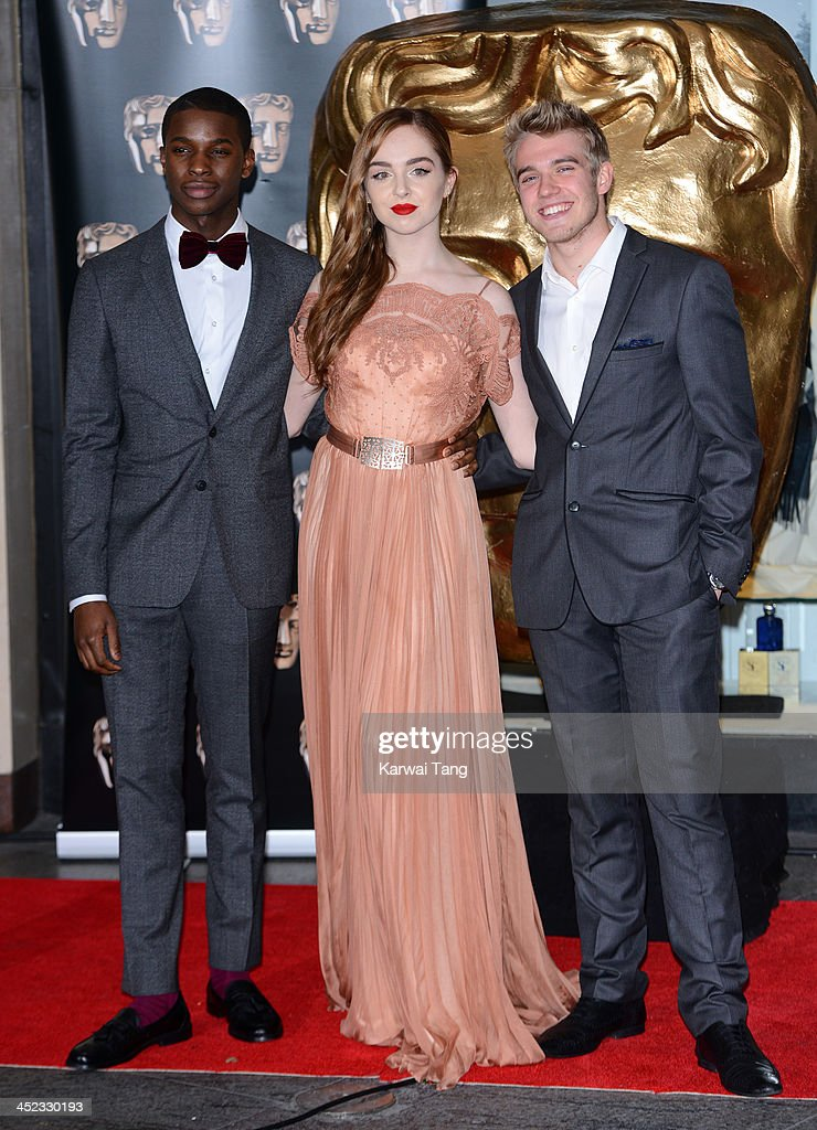Kedar Williams-Stirling, Louisa Connolly-Burnham and Bobby Lockwood attend the British Academy Children's Awards held at London Hilton on November 24, 2013 in London, England.