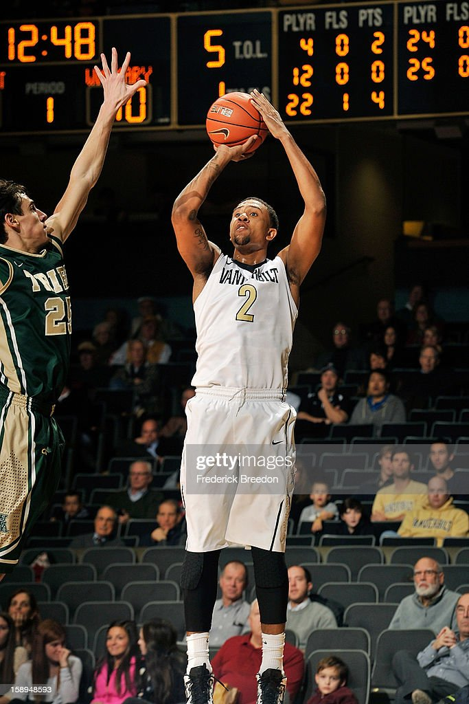 Kedren Johnson #2 of the Vanderbilt Commodores plays against the William and Mary Tribe at Memorial Gym on January 2, 2013 in Nashville, Tennessee.