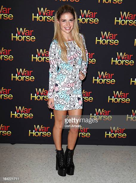 Keeda attends 'War Horse' at the Lyric Theatre on March 21 2013 in Sydney Australia
