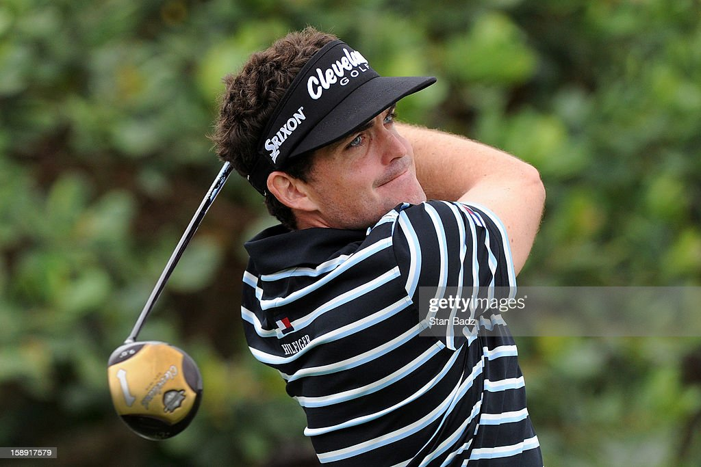 <a gi-track='captionPersonalityLinkClicked' href=/galleries/search?phrase=Keegan+Bradley&family=editorial&specificpeople=6388440 ng-click='$event.stopPropagation()'>Keegan Bradley</a> hits a drive on the first hole during the Pro-Am round for the Hyundai Tournament of Champions at Plantation Course at Kapalua on January 3, 2013 in Kapalua, Hawaii.