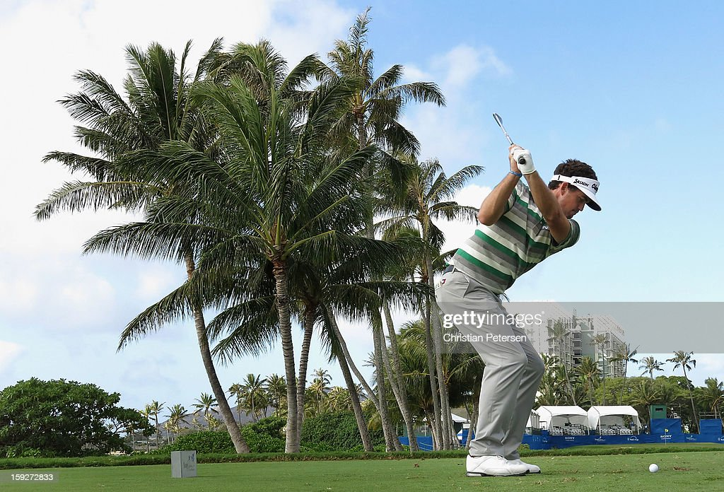 <a gi-track='captionPersonalityLinkClicked' href=/galleries/search?phrase=Keegan+Bradley&family=editorial&specificpeople=6388440 ng-click='$event.stopPropagation()'>Keegan Bradley</a> hits a tee shot on the 17th hole during the first round of the Sony Open in Hawaii at Waialae Country Club on January 10, 2013 in Honolulu, Hawaii.