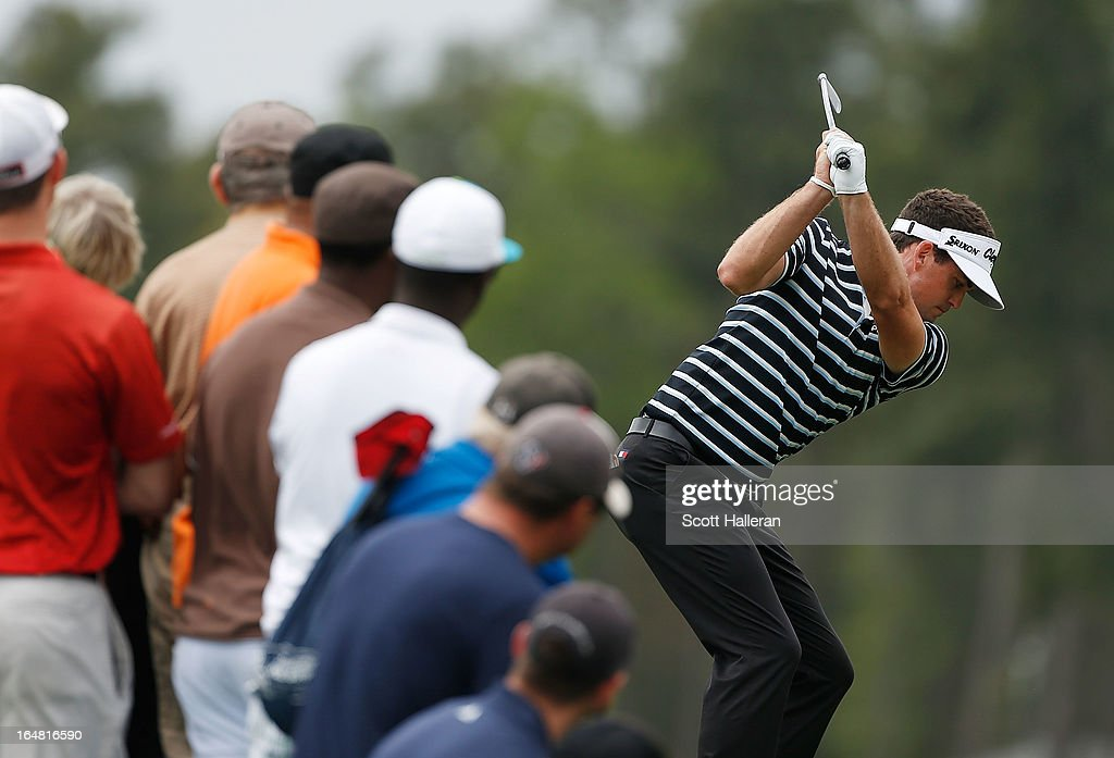 Keegan Bradley hits his tee shot on the third hole during the first round of the Shell Houston Open at the Redstone Golf Club on March 28, 2013 in Humble, Texas.