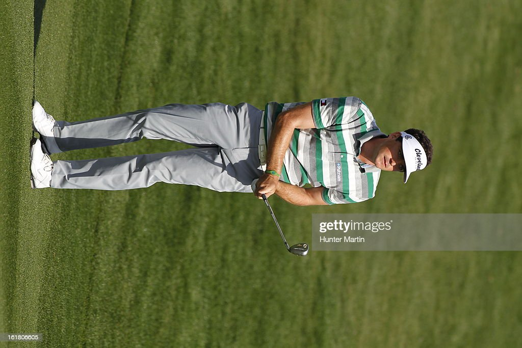 Keegan Bradley hits the ball during the third round of the Waste Management Phoenix Open at TPC Scottsdale on February 2, 2013 in Scottsdale, Arizona.