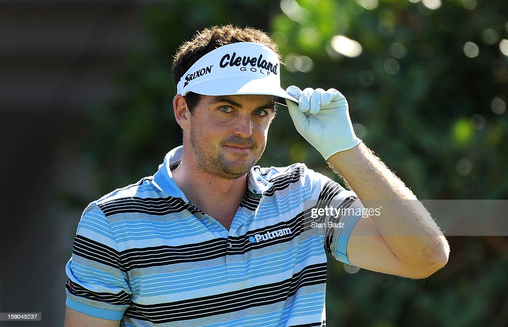 Keegan Bradley is introduced on the first hole during the replay of the first round of the Hyundai Tournament of Champions at Plantation Course at Kapalua on January 6, 2013 in Kapalua, Maui, Hawaii.