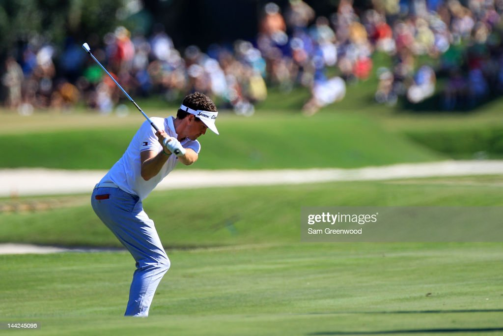 <a gi-track='captionPersonalityLinkClicked' href=/galleries/search?phrase=Keegan+Bradley&family=editorial&specificpeople=6388440 ng-click='$event.stopPropagation()'>Keegan Bradley</a> of the United States hits an approach shot during the second round of THE PLAYERS Championship held at THE PLAYERS Stadium course at TPC Sawgrass on May 11, 2012 in Ponte Vedra Beach, Florida.