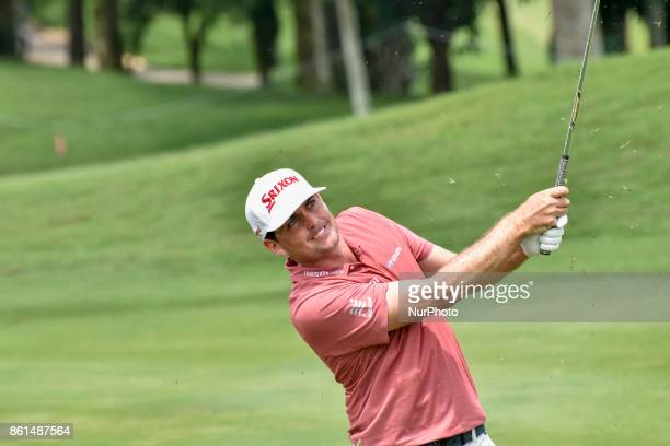 Keegan Bradley of USA in action during the CIMB Classic 2017 day 4 on October 15 2017 at TPC Kuala Lumpur Malaysia