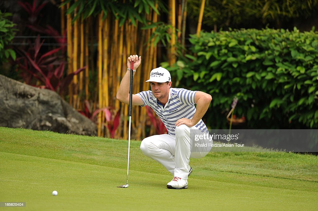 Keegan Bradley of USA plays a shot during round two of the CIMB Classic at Kuala Lumpur Golf & Country Club on October 25, 2013 in Kuala Lumpur, Malaysia.