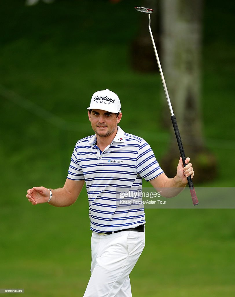 <a gi-track='captionPersonalityLinkClicked' href=/galleries/search?phrase=Keegan+Bradley&family=editorial&specificpeople=6388440 ng-click='$event.stopPropagation()'>Keegan Bradley</a> of USA plays a shot during round two of the CIMB Classic at Kuala Lumpur Golf & Country Club on October 25, 2013 in Kuala Lumpur, Malaysia.