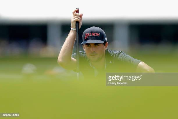 Keegan Bradley prepares to putt on the 9th during Round Three of the Zurich Classic of New Orleans at TPC Louisiana on April 26 2014 in Avondale...
