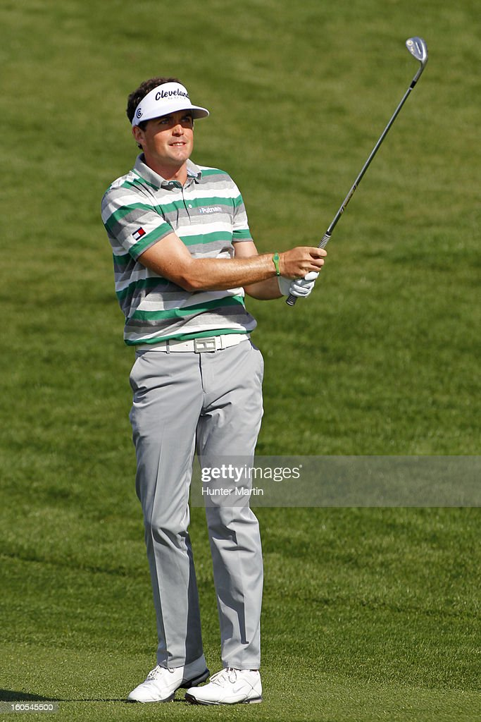 Keegan Bradley watches his second shot on the second hole during the third round of the Waste Management Phoenix Open at TPC Scottsdale on February 2, 2013 in Scottsdale, Arizona.