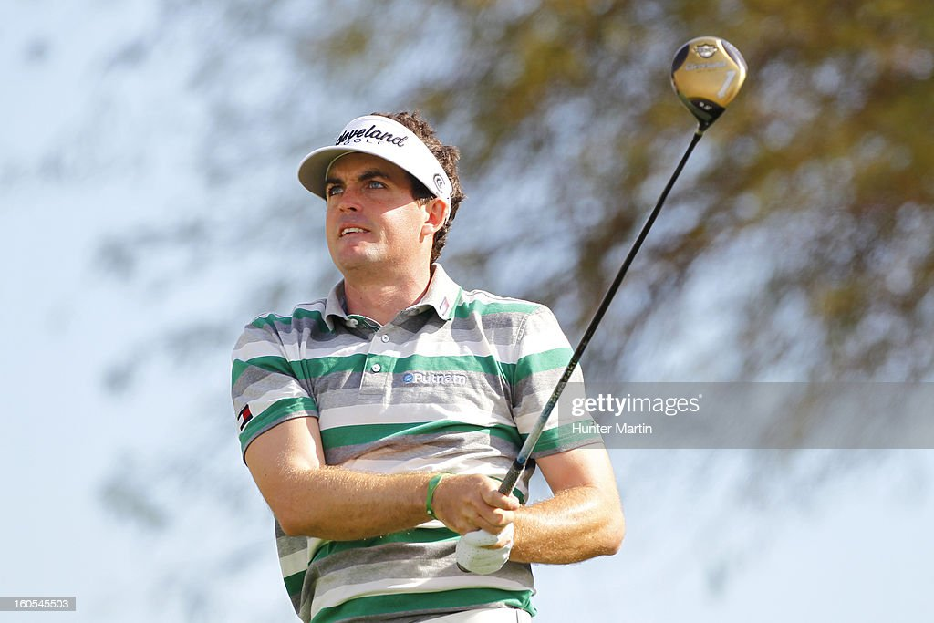 Keegan Bradley watches his tee shot on the third hole during the third round of the Waste Management Phoenix Open at TPC Scottsdale on February 2, 2013 in Scottsdale, Arizona.