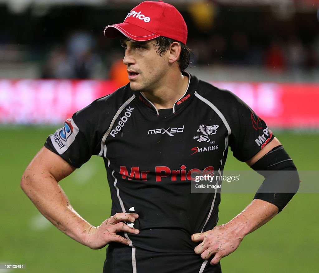 Keegan Daniel(captain) during the Super Rugby match between The Sharks and Toyota Cheetahs from Kings Park on April 20, 2013 in Durban, South Africa.