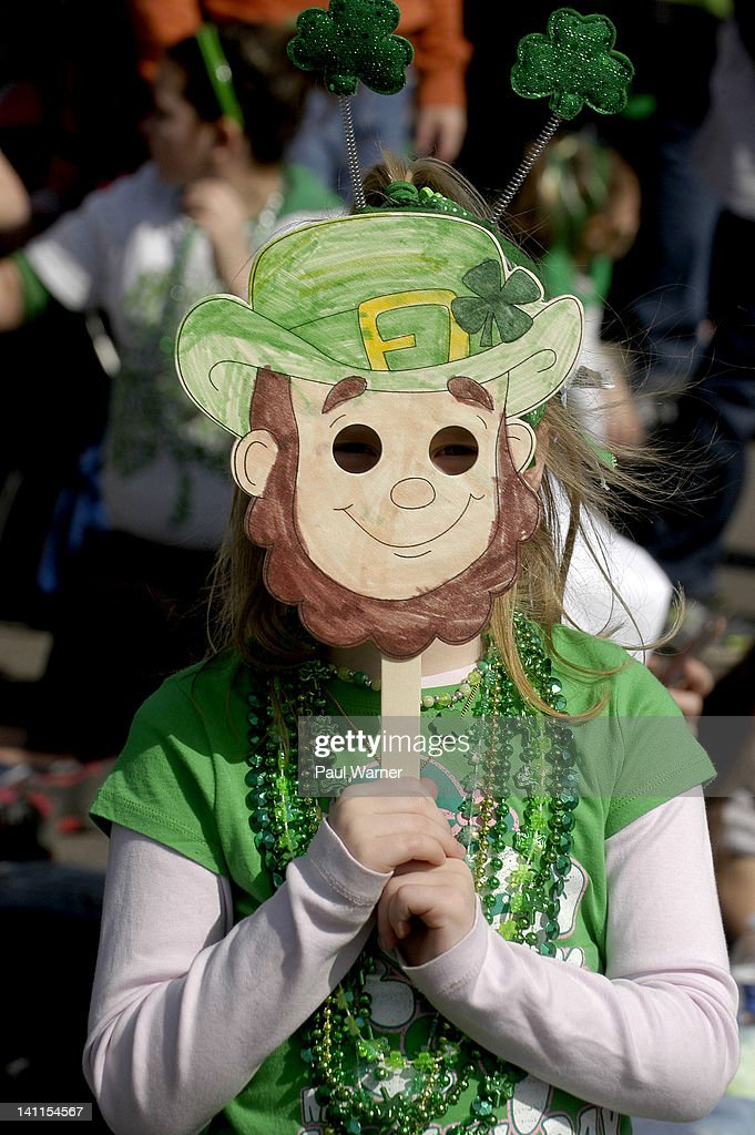 Keegan Maher attends the St. Patrick's Day parade on the streets of Detroit on March 11, 2012 in Detroit, Michigan.