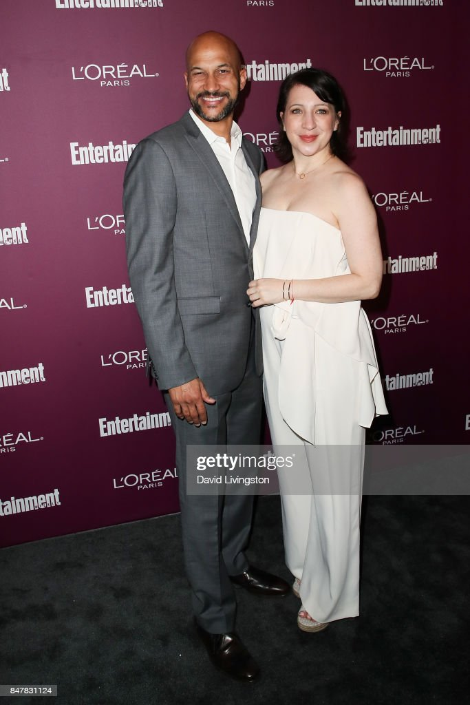 Keegan-Michael Key (L) and Elisa Pugliese attend the Entertainment Weekly's 2017 Pre-Emmy Party at the Sunset Tower Hotel on September 15, 2017 in West Hollywood, California.