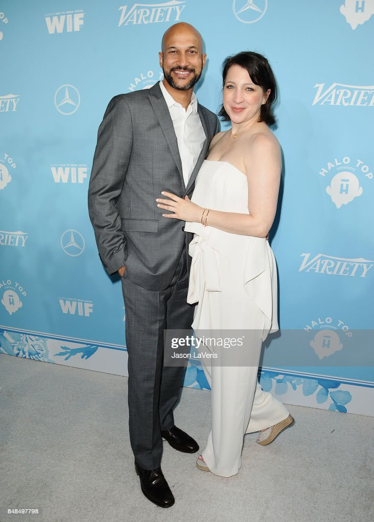 Keegan-Michael Key and Elisa Pugliese attend Variety and Women In Film's 2017 pre-Emmy celebration at Gracias Madre on September 15, 2017 in West Hollywood, California.