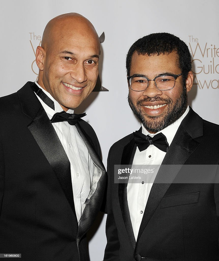 <a gi-track='captionPersonalityLinkClicked' href=/galleries/search?phrase=Keegan-Michael+Key&family=editorial&specificpeople=630311 ng-click='$event.stopPropagation()'>Keegan-Michael Key</a> and <a gi-track='captionPersonalityLinkClicked' href=/galleries/search?phrase=Jordan+Peele&family=editorial&specificpeople=7317208 ng-click='$event.stopPropagation()'>Jordan Peele</a> attend the 2013 Writers Guild Awards at JW Marriott Los Angeles at L.A. LIVE on February 17, 2013 in Los Angeles, California.