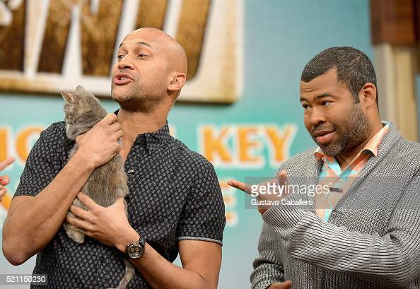 KeeganMichael Key and Jordan Peele is on the set of Univisions 'despierta America' in support of thefilm 'Keanu' at Univision Headquarters on April...