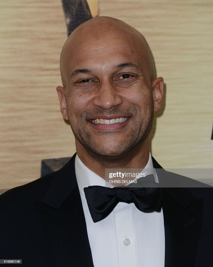 Keegan-Michael Key arrives for the Writers Guild Awards in Century City, California, February 13, 2016. / AFP / CHRIS DELMAS