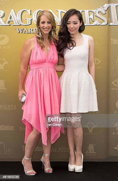 Keeley Hawes and Jane Zhang attends the 'Dragon Nest' photocall during the 67th Annual Cannes Film Festival on May 18 2014 in Cannes France