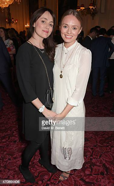 Keeley Hawes and Laura Haddock attend as Audi hosts the opening night performance of 'La Fille Mal Gardee' at The Royal Opera House on April 23 2015...