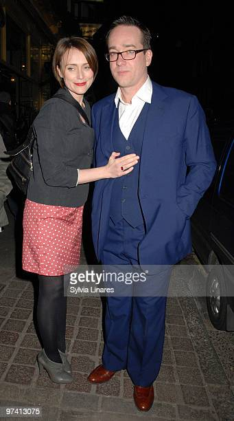 Keeley Hawes and Matthew MacFadyen attend Private Lives Press Night held at The Vaudeville Theatre on March 3 2010 in London England