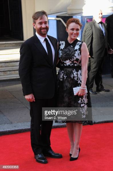 Keeley Hawes and Matthew Macfadyen attend the Arqiva British Academy Television Awards at Theatre Royal on May 18 2014 in London England