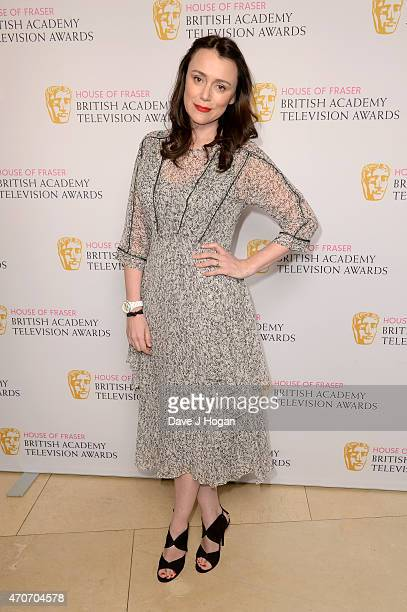 Keeley Hawes attends the BAFTA Nominees Party at The Corinthia Hotel on April 22 2015 in London England