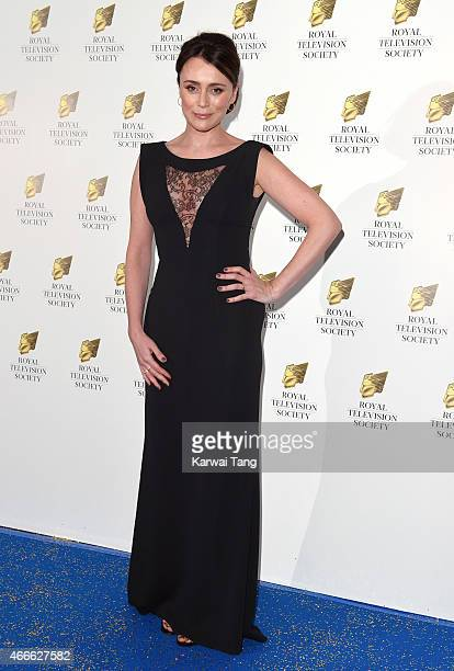 Keeley Hawes attends the RTS Programme Awards at The Grosvenor House Hotel on March 17 2015 in London England