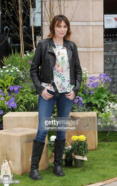 Keeley Hawes launches the first of six mobile Febreze Fresh Havens at Canary Wharf on April 19 2012 in London England