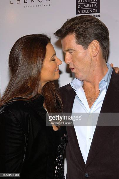 Keely Shay Smith and Pierce Brosnan during After The Sunset New York Screening at Ziegfeld Theater in New York City New York United States