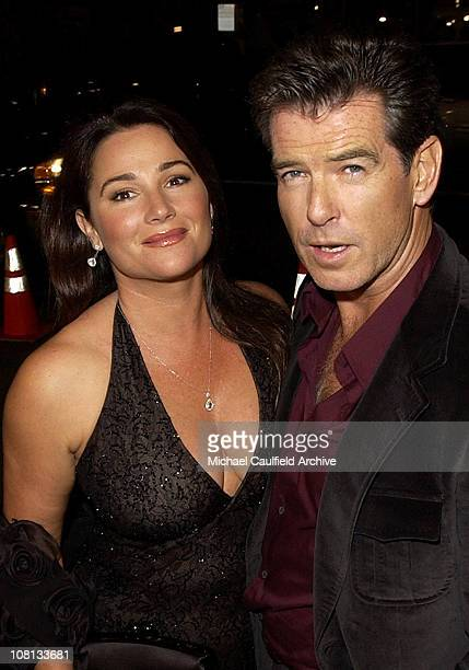Keely Shaye Brosnan and Pierce Brosnan during After the Sunset Los Angeles Premiere Red Carpet at Chinese Theatre in Hollywood California United...