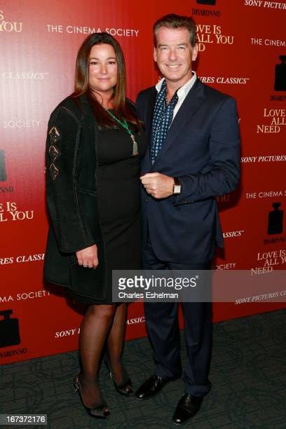 Keely Shaye Smith and husband Pierce Brosnan attend The Cinema Society Disaronno screening of Sony Pictures Classics' 'Love Is All You Need' at...