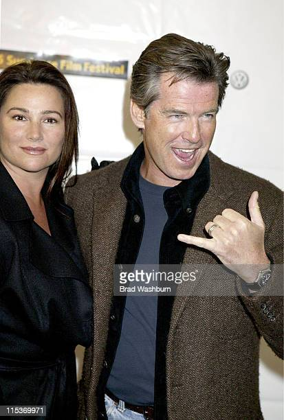 Keely Shaye Smith and Pierce Brosnan during 2005 Sundance Film Festival 'The Matador' Premiere at Eccles Theatre in Park City Utah United States