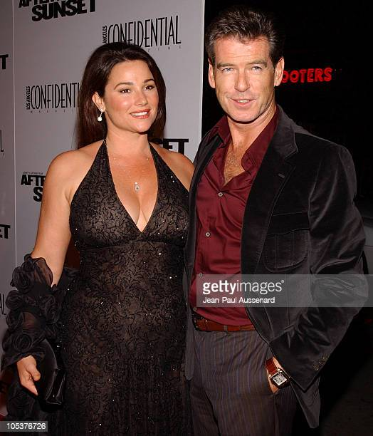 Keely Shaye Smith and Pierce Brosnan during 'After the Sunset' Los Angeles Premiere Arrivals at Grauman's Chinese Theater in Hollywood California...